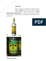 Bebidas Maior Grau Alcoolico