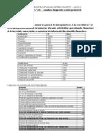 Exercitii, Lucrari Profesionale de Rezolvat Pentru an II Sem.I 2013 - ANALIZA DIAGNOSTIC