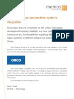 Memos Case Study Orco Datawarehouse