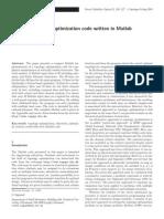 A 99 Line Topology Optimization Code Written in Matlab