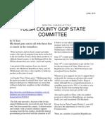 Tulsa County GOP Committee Members Newsletter June