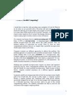 Parallel Computing Seminar Report