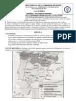 Examen Historia de España Selectividad Madrid Junio 2013