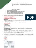 Pembahasan Soal Ujian Tulis Blok XIX Keluhan Tumbuh Kembang 2009
