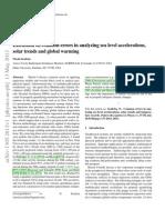 Diskusi Tentang Kesalahan Umum Dalam Menganalisis Percepatan Permukaan Laut, Tren Surya Dan Pemanasan Globa