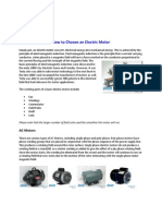 How to Choose an Electric Motor