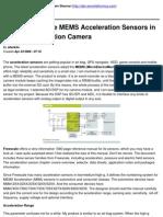 Design Freescale MEMS Acceleration Sensors in an Impact Detection Camera