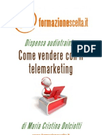 Come vendere con il telemarketing - abstract dispensa audiotraining