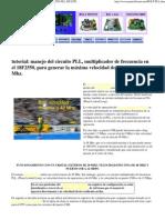 Configuracion Del Puerto Usb Circuito Pll Multiplicador de Frecuencia en 18f2550 48 Mhz Registros de Configuracion