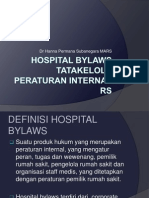 Hospital Bylaws (Corporate)