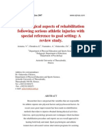 Psychological aspects of rehabilitation following athletic injuries