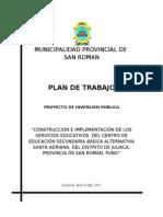Plan de Trabajo Sta. Adriana