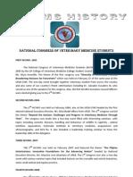 National Congress of Veterinary Medicine Students HISTORY