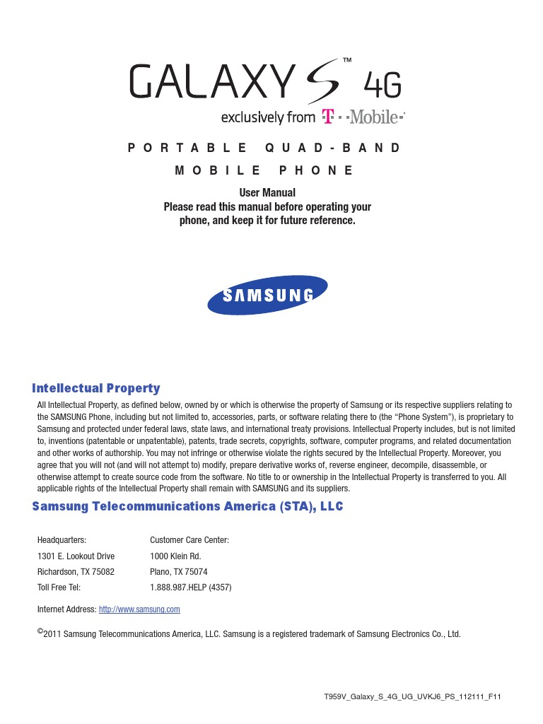 Samsung galaxy s3 manual t-mobile.
