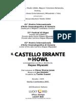 Il Castello Errante Di Howl-Pressbook Ital