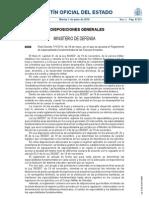 Real Decreto 7111, 2010, Reglamento de Especialidades Fundamentales de Las Fuerzas Armadas