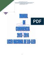 Manual de Convivencia 2013-2014 Liceo Nacional