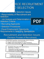 9 - Sales force recruitment and selection.ppt