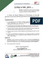 Resolução Poli n 001_2013 - Transferência Do Ciclo Básico Do Horário Noturno Para o Vespertino - Vs_2