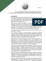 Informe de los talleres de análisis del procedimiento de selección de aspirantes a jueces de primera instancia