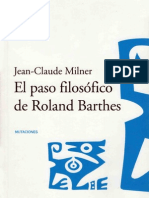 EL PASO FILOSÓFICO DE BARTHES