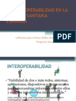 LA INTEROPERABILIDAD EN LA POLITICA SANITARIA ESPAÑOLA