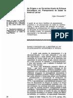 As origens e as correntes atuais do enfoque estratégico em planejamento de saúde na América Latina