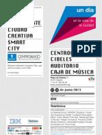 Programa del congreso sobre smart cities en CentroCentro (Madrid)