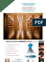 Lista PRECIOS Libreria Cocina 12 2011