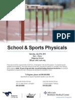 2013 School Sport Physicals Promo