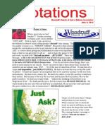 Newsletter 6.4.13
