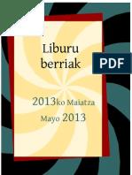 2013ko maiatzako liburu berriak -- Novedades de mayo 2013