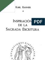 Rahner, Karl - Inspiracion de La Sagrada Escritura