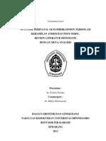 Outcome Perinatal Oligohidramnion Terisolasi