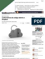 5 alternativas de código abierto a Dropbox