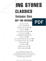 (Guitar Bass Drum Songbook) - The Rolling Stones Classics - Volume One- Off the Record