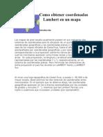Como Obtener Coordenadas Lambert en Un Mapa