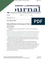 Dehumidification Performance