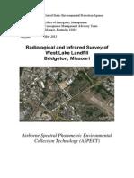 Radiological and Infrared Survey of West Lake Landfill Bridgeton, Missouri
