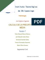 Calculo de La Precipitacion Media