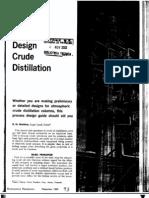 How to Design Crude Distillation