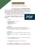 4 - Regras para leitura final e formatação
