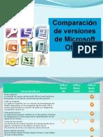 Comparaciones Office 2007