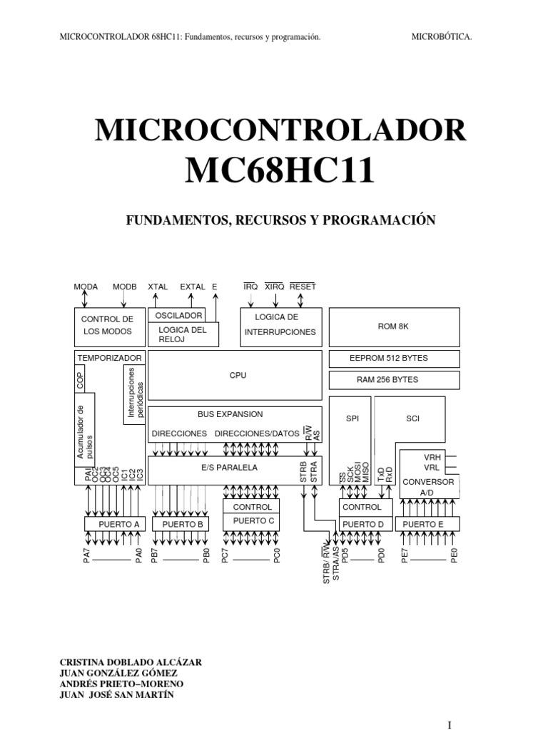 Microcontrolador MC68HC11: Fundamentos, Recursos y