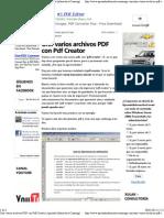 Unir Varios Archivos PDF Con PDF Creator _ Aprende Informatica Conmigo