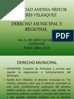 DERECHO MUNICIPAL UANCV 2013 - EXPOSICIÓN.