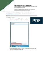 Como Crear Un Sitio Web Con Iis en Windows 7