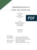 The Viscoelastic Behavior of Pigmented Latex Coating Films