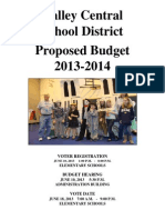Valley Central School District Proposed Budget 2013-2014