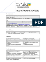 Ficha Ativista